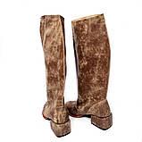 """Сапоги в стиле """"милитари"""" со свободным голенищем, каблук 4см, цвет коричневый, в наличии размер 37, фото 4"""