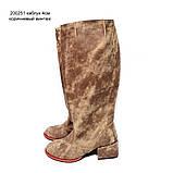 """Сапоги в стиле """"милитари"""" со свободным голенищем, каблук 4см, цвет коричневый, в наличии размер 37, фото 2"""