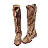 """Сапоги в стиле """"милитари"""" со свободным голенищем, каблук 4см, цвет коричневый, в наличии размер 37, фото 3"""