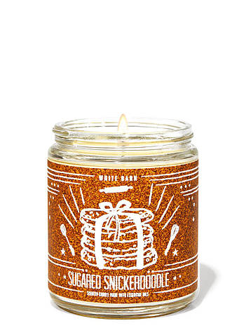 Свеча ароматизированная Bath and Body Works Sugared Snickerdoodle Scented Candle 198 г, фото 2