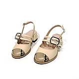 Туфли с открытой пяточной частью и прозрачным ремешком через подъем, каблук 4см, цвет молочный, фото 2