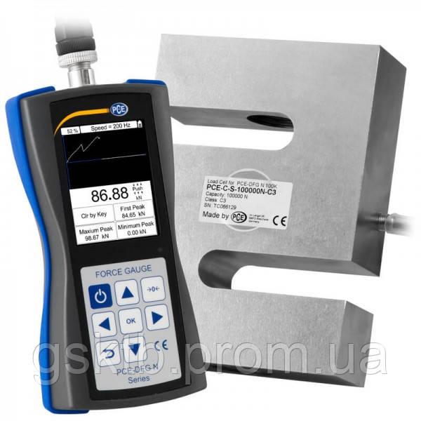 PCE-DFG N 100K динамометр до 100 000Н (10 197 кг) с сертификатом ISO (Германия)