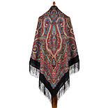 Троицыно утро 1930-18, павлопосадский платок из шерсти с шелковой бахромой, фото 3