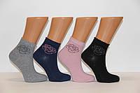 Женские носки средние с люрексом К790,К789,949,817,1082 PIER LONE   к-1082 роза люрексом