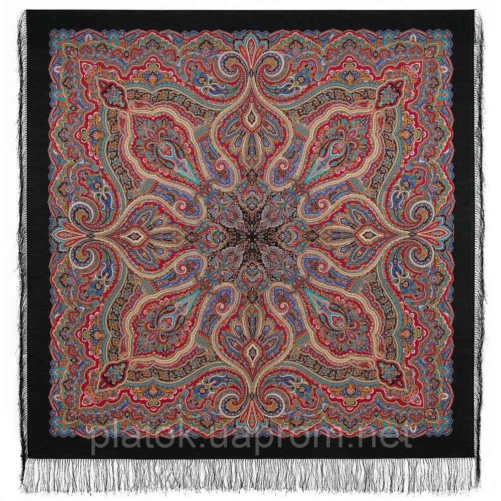 Троицыно утро 1930-18, павлопосадский платок из шерсти с шелковой бахромой