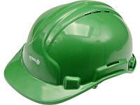 Будівельна зелена захисна каска Vorel 74195 (Польща)