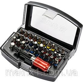 Набор бит, адаптер для бит, сталь AISI S2, 32 предмета, в пластиковом кейсе// YATO