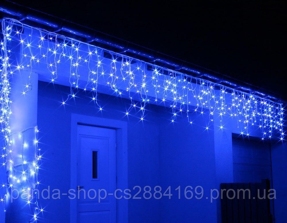 Новогодняя гирлянда Бахрома уличная 200 LED, 9,5 м синій Голубой свет 22,5W