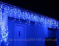 Новогодняя гирлянда Бахрома уличная 200 LED, 9,5 м синій Голубой свет 22,5W, фото 1