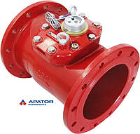 Водосчетчик Apator PoWoGaz MWN-130-250-NK (ГВ) с импульсным выходом турбинный Ду-250 сухоход промышленный