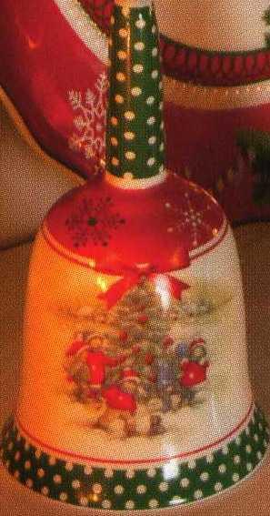 Колокольчик с новогодним рисунком Ёлочка