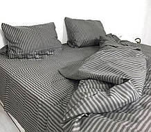 Набор постельного белья в полоску Полуторный