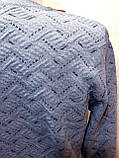 Мужской теплый шерстяной свитер Vip Stones Турция Синий, фото 6