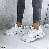 Кроссовки женские белые 477, фото 6