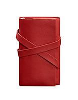 Блокнот кожаный, софт-бук красный 120 листов (ручная работа)