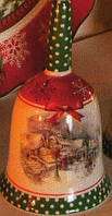 Колокольчик с новогодним рисунком Рождественский вечер