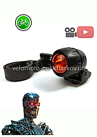 Стоп велосипедный / мигалка Jing Yi JY-249, + 2шт батарейки 2032
