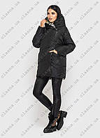 Женский пуховик, двусторонняя куртка Batter Flei черный, лайм