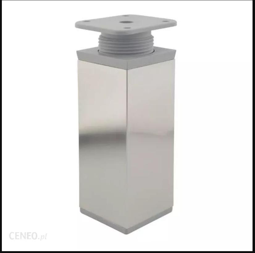 Нога регулируемая 40X40 квадратная H=100мм никель
