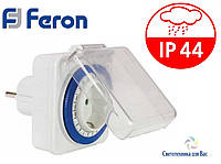 Розетка с таймером суточная Feron TM31, IP44 16А 3500Вт, фото 1