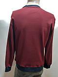 Мужская весенняя кофта батник отличного качества Турция Бордовая, фото 10