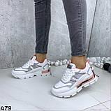 Кроссовки женские белые 479, фото 4