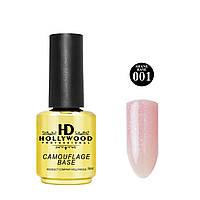 База каучуковая Розовый Шиммер Shane 001 HD Hollywood 16 мл