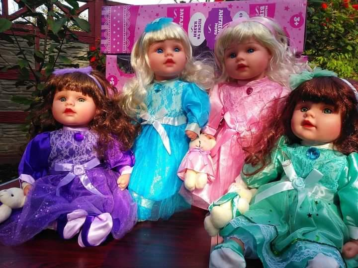 """Музична лялька """"Маленька пані з ведмедиком"""", 45 см.Безкоштовна доставка Укрпоштою!"""
