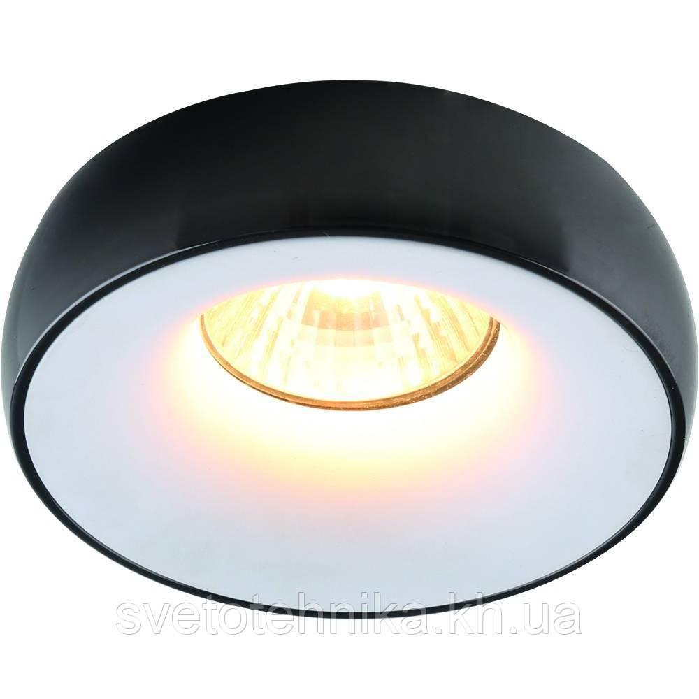 Встраиваемый точечный светильник из алюминия DIASHA 18 BK+WH, бело-черный. .