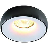 Встраиваемый точечный светильник из алюминия DIASHA 18 BK+WH, бело-черный. ., фото 1