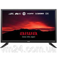 Телевізор AIWA JH24BT300S HD, DVB-С/DVB-T2/DVB-S2 тюнери, CI+, 5Втx2 Hi-Fi BASS SPEAKER