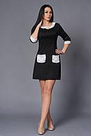 Оригинальное женское платье с накладными карманами