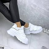 Кроссовки женские белые 116, фото 3