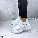 Кроссовки женские белые 116, фото 4