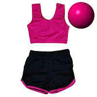 Детский спортивный комплект топ и шорты для гимнастики, хореографии и танцев.