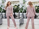 Трикотажная пижама женская Размер 42 44 46 48 50 52 54 56 58 60 В наличии 3 цвета, фото 3