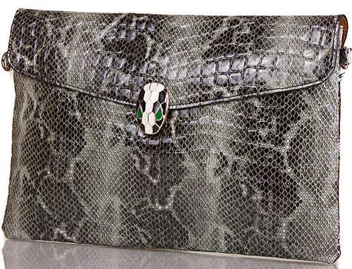 Стильный  женский кожаный клатч  с принтом ETERNO, ET336951-4
