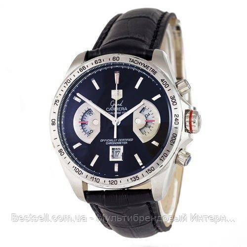 Часы мужские наручные Tag Heue Grand Carrera Calibre 17 quartz Chronograph Silver / реплика ААА класса /