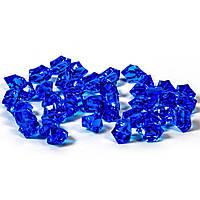 Искусственные льдинки. Цвет синий. Упаковка 10 шт