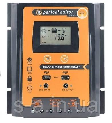 PVSC70A 70А 12/24В MPPT Контроллер заряда солнечных батарей (модулей) с Дисплеем + 2USB Контролер заряду