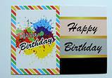 Бирка Нappy Birthday полоски, фото 2