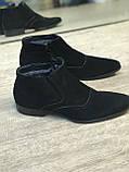Зимові чоловічі черевики замшеві,шкіряні, фото 6