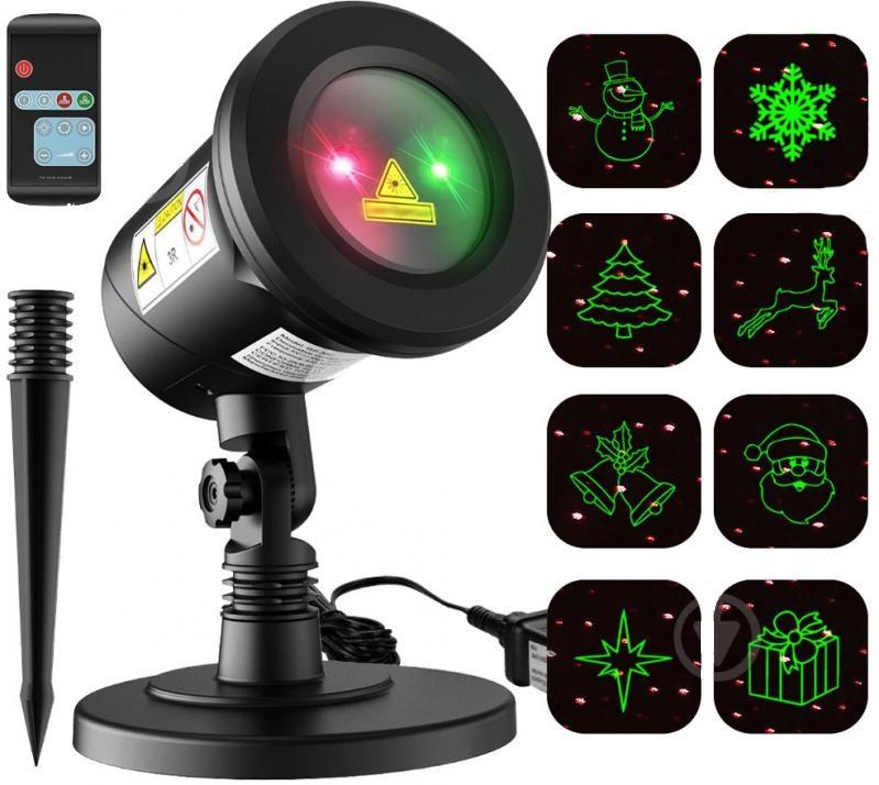 Новорічний лазерний проектор  RG 2 кольори 12 в1