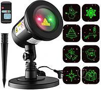 Новорічний лазерний проектор  RG 2 кольори 12 в1, фото 1