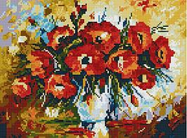 """Алмазная мозаика по номерам """"Маки в вазе"""" Rainbow Art"""