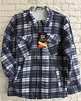 Рубашка теплая мужская на меху размер 50-56 в розницу
