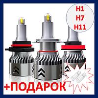 В линзу LED H7 6000K 12V 60W