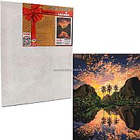 Картина по номерам Идейка «Багровая лагуна» 50x40 см (КНО2737)