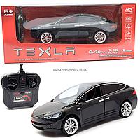Машинка на радіоуправлінні Тесла чорна, 1:16, світлові ефекти (HQ20149)