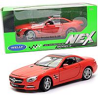 Игрушечная машинка Welly Nex «Країна Іграшок» Мерседес-Бенц SL500, красная, 18 см (24041W)